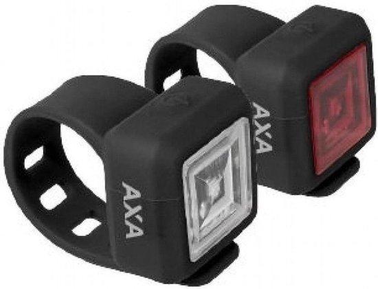 AXA Niteline 11 Fietsverlichtingsset - Batterij - LED - Zwart