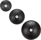 Trendy Sport Massageballen - set van 3 ballen - Trendy Bola - Trigger point therapie ballen - 3 verschillende afmetingen - S(6cm) - M(8cm) - L(10cm) - Zwart