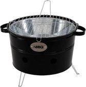 Draagbare Barbecue-emmer Zwart - compact BBQ model geschikt om mee te nemen naar bijvoorbeeld het park