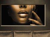 Luxe Wanddecoratie - Foto - Plexiglas & Dibond - UV Filter - Aluminium Ophangsysteem - Gold Lust