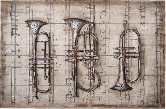 Wanddecoratie muziekinstrumenten 120*80*6 cm Multi | 5WA0126 | Clayre & Eef