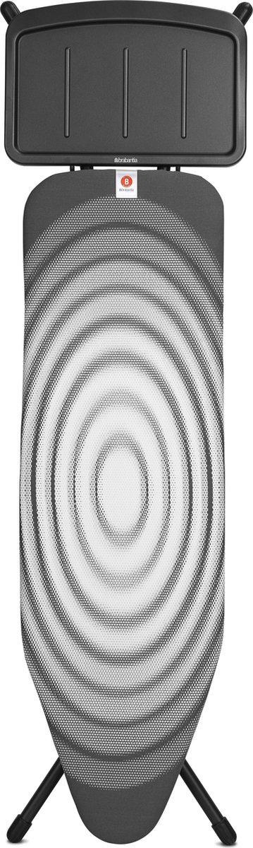 Brabantia Strijkplank B met Stoomunithouder - 124 x 38 cm - Titan Oval