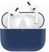 Case Cover Voor Apple Airpods Pro- Siliconen design-Blauw | Watchbands-shop.nl