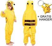 Pikachu Onesie Pokémon huispak jumpsuit pyjama kinderen - 140-146 (140) + GRATIS tas/sleutelhanger verkleedkleding