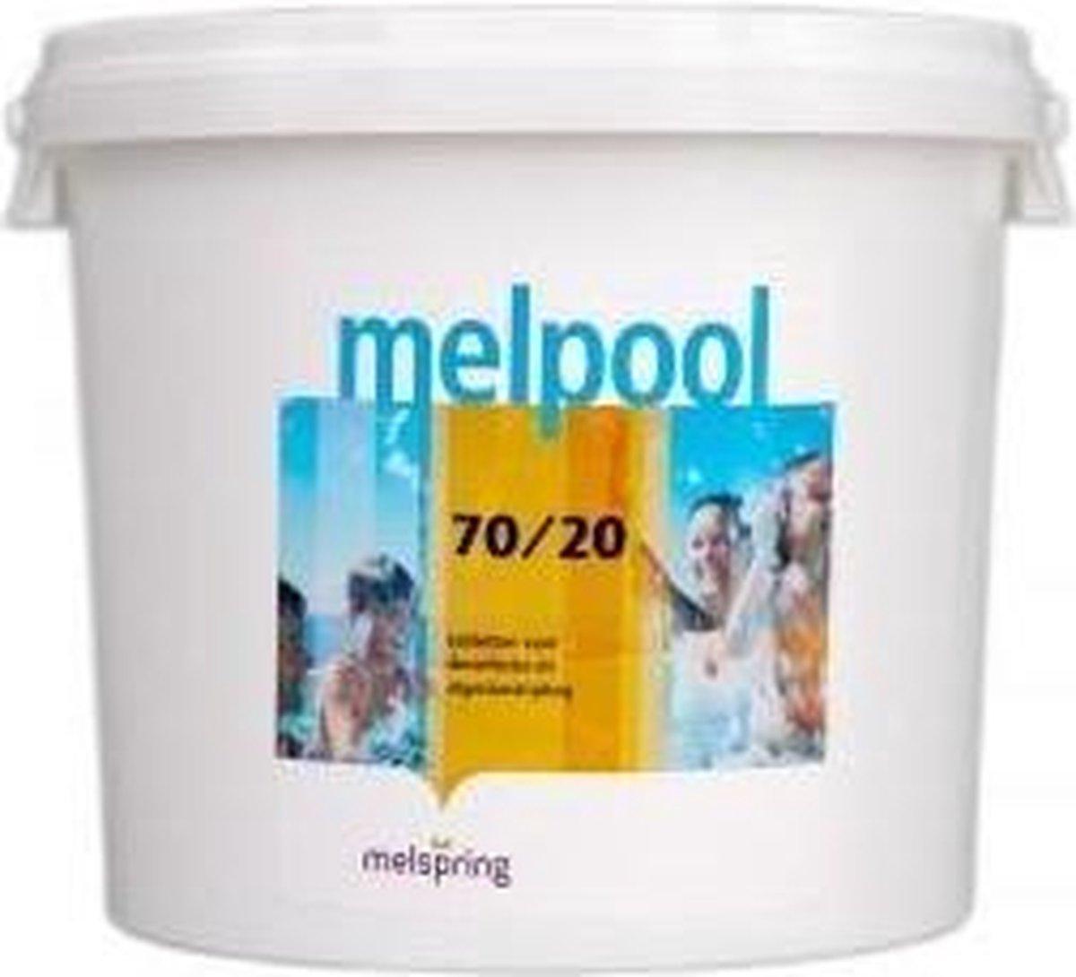 Melpool snel oplossende chloortabletten (70/20), 5 kilo