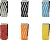 Polka Dot Hoesje voor Nokia 108 met gratis Polka Dot Stylus, zwart , merk i12Cover