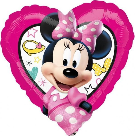 Hartjes ballon Minnie Mouse™ - Feestdecoratievoorwerp