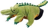 Pluche handpop krokodil 22 cm