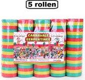 5 Rollen Serpentines rood/geel/groen