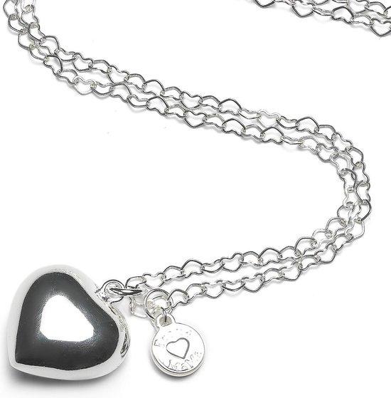Product: Proud MaMa zwangerschapsketting Babybell Heartchain hart Verzilverd, van het merk Proud MaMa
