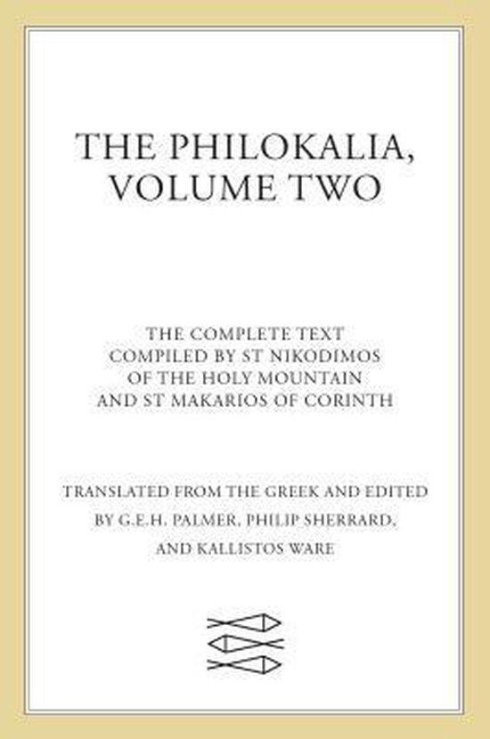 Afbeelding van The Philokalia Vol 2