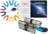 M & C Color Pro cilinderslot 32/32 set van 2 stuks skg*** incl. 5 sleutels.