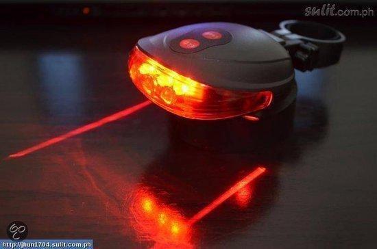 Laser Fietsverlichting LED - Achterlicht - Afneembaar