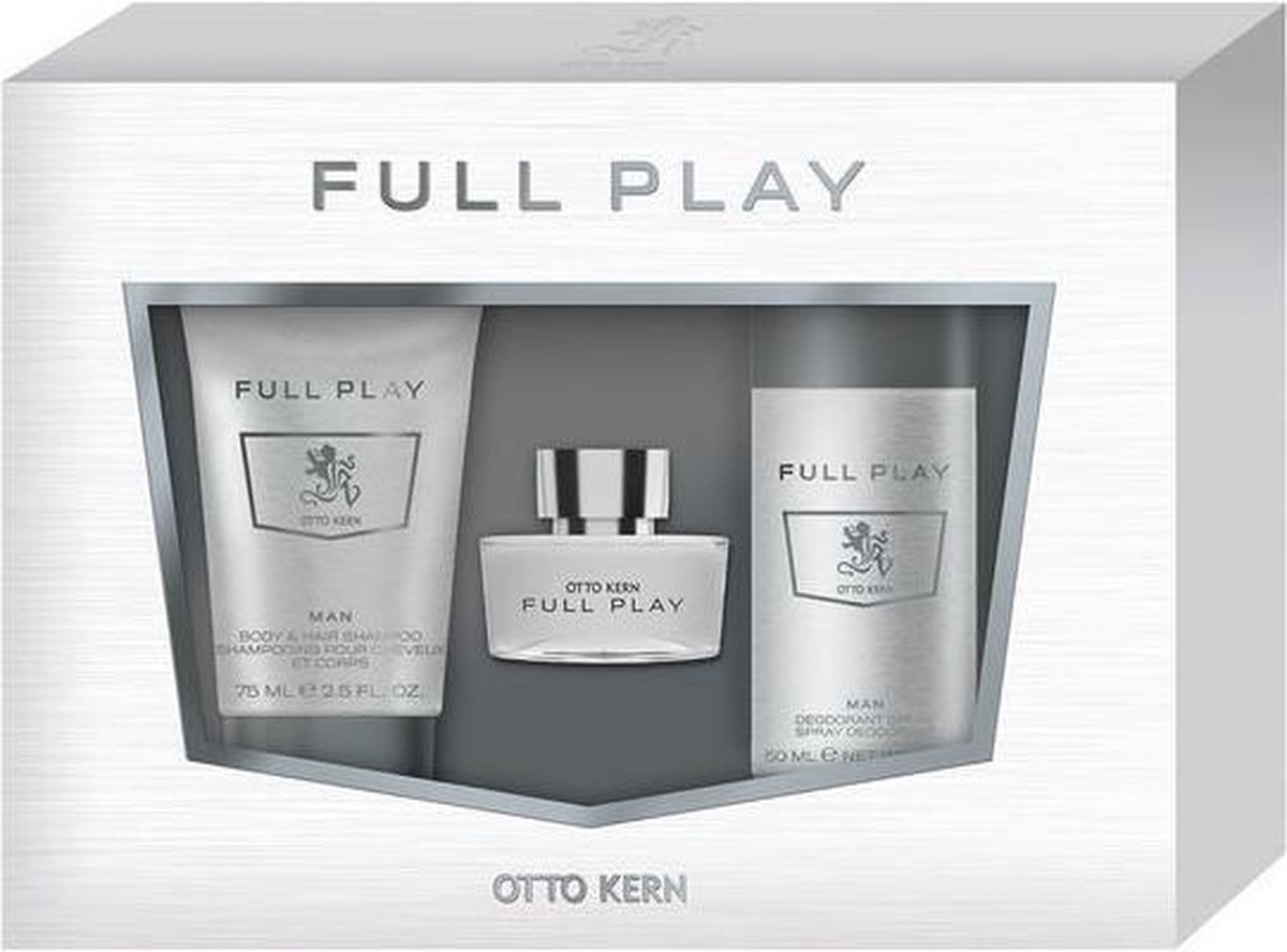 Otto Kern - Full Play - 30 ml Eau de Toilette + 75 ml Body & Hair Shampoo + 50 ml Deodorant Spray - Geschenkset - Otto Kern