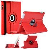 iPad 2 / 3 / 4 Case 360 graden draaibare beschermhoes cover kleur Rood