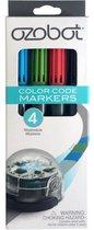 Ozobot - Kleurcode - Uitwisbare stiften - 4 stuks - Rood/Groen/Zwart/Blauw
