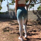 Yoga pants - Naadloze leggings - Groen | Hoge Taille | Maat L | Fitness | Voor vrouwen | Loungewear yoga Pants NewAgeDevi | Fitness | Yoga | Workout | Yoga Broek |