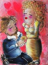 SCHILDERIJ TRUE LOVE handgeschilderd