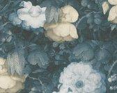 Behang Metropolitan stories flowers blauw
