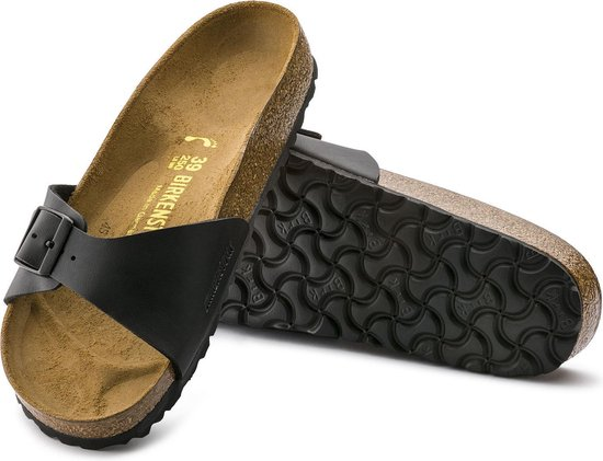 Birkenstock Slippers Dames Madrid - 040791 Black - Maat 36 hlyPGdGT