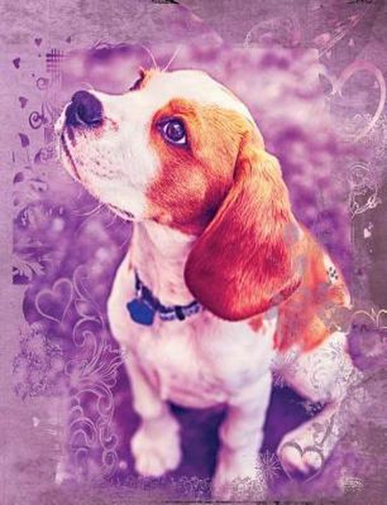 Cute Beagle Dog Composition Notebook, Graph Paper