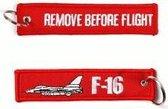 F-16 Remove Before Flight sleutelhanger