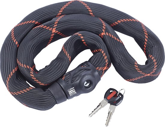 Abus Ivy Steel-O-Chain 9100 Kettingslot - ART3 - 85 cm - Zwart