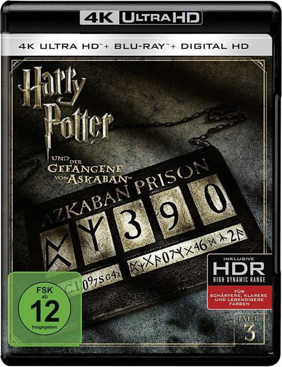 Harry Potter And The Prisoner Of Askaban (2003) (Ultra HD Blu-ray & Blu-ray)-