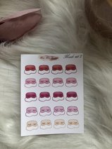 Planner stickers functional Mask set 2
