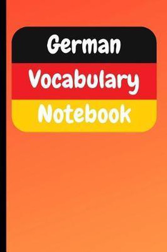 German Vocabulary Notebook