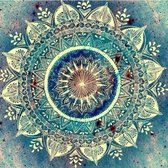 Diamond Painting – Mandala – 25 x 30 – Turquoise - Maak de Mooiste Schilderijen Helemaal Zelf