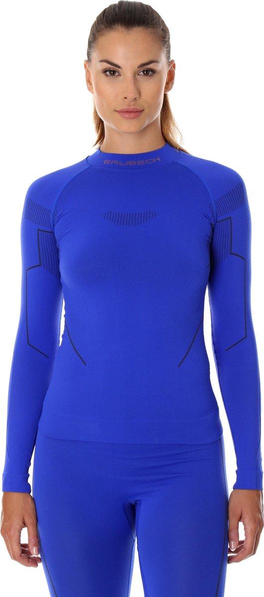 Dames Thermoshirt - Thermokleding - met Nilit® Innergy-Kobaltblauw-M