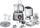 Bosch MultiTalent 8 MC812M844 - Foodprocessor - Zwart/RVS