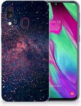 Siliconen Backcover Samsung Galaxy A40 Hoesje TPU Design Stars