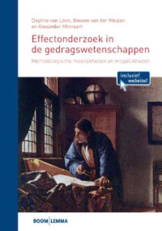 Effectenonderzoek in de gedragswetenschappen - Daphne van Loon  