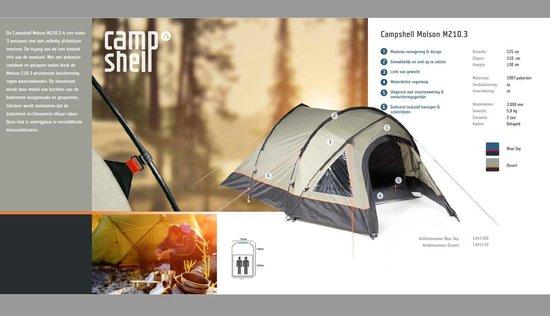 CampShell Molson 210 bij OutdoorXL   Va € 50 gratis verzending