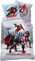Marvel Avengers City - Dekbedovertrek - Eenpersoons - 140 x 200 cm - Multi