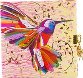 GOLDBUCH GOL-44273 TURNOWSKY dagboek FLOWER KOLIBRI met slot