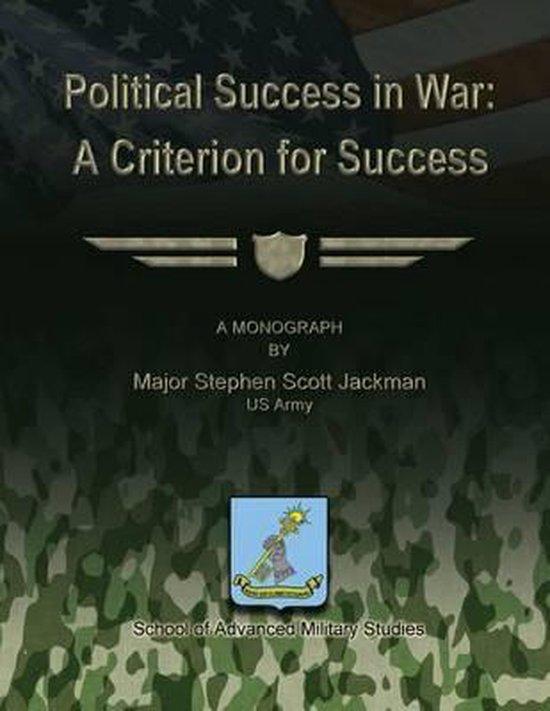 Political Success in War