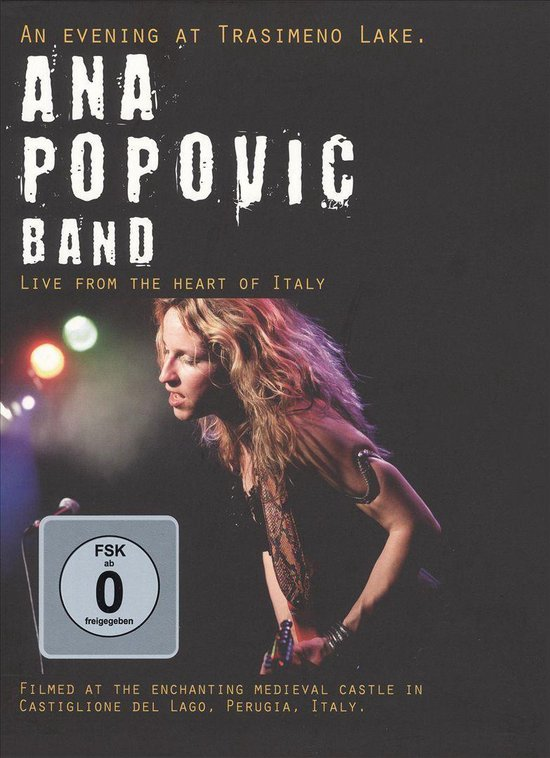 Cover van de film 'Ana Popovic Band - An Evening At Trasimeno Lake'