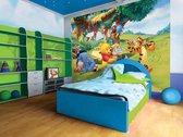 Fotobehang Disney, Winnie De Poeh | Geel | 152,5x104cm