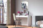 Perfecthomeshop Moderne Kaptafel Princess -Spiegel & 2 Ruime Lades - Wit - 155x78x40 cm