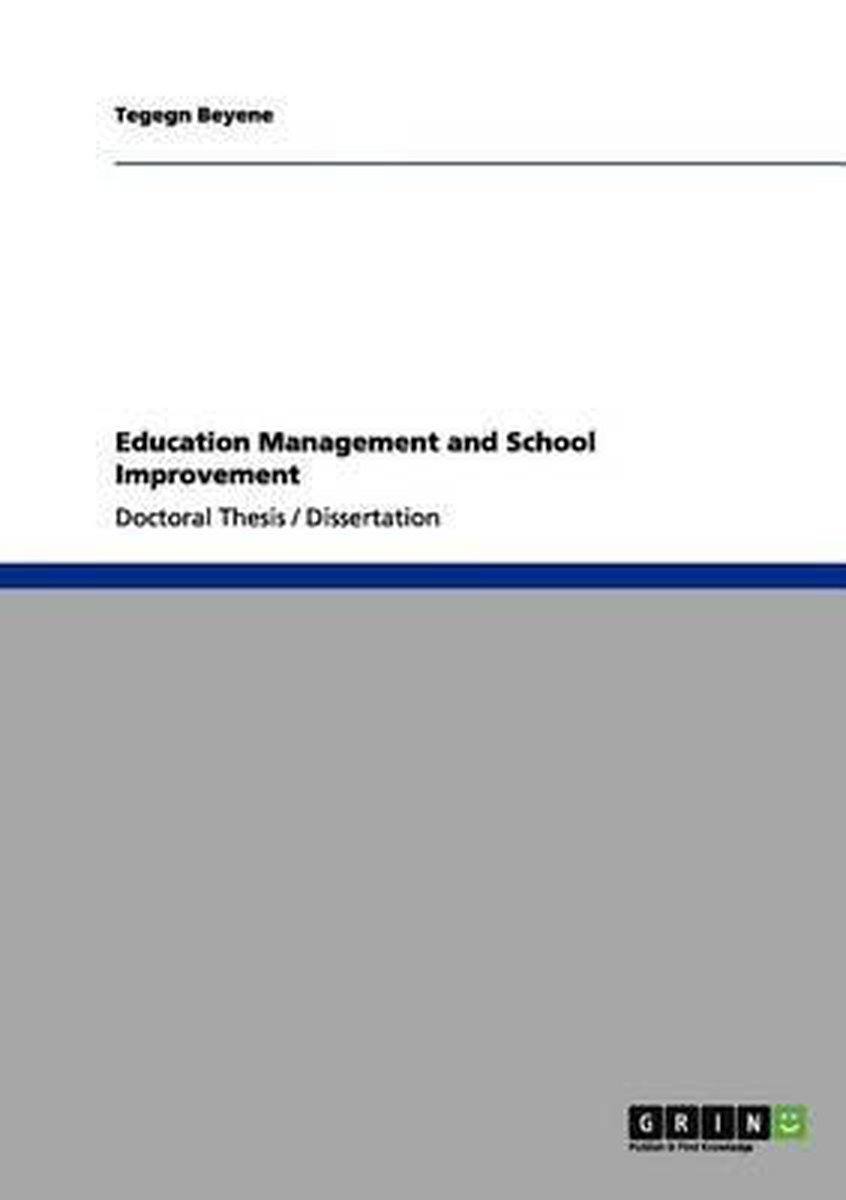 Education Management and School Improvement