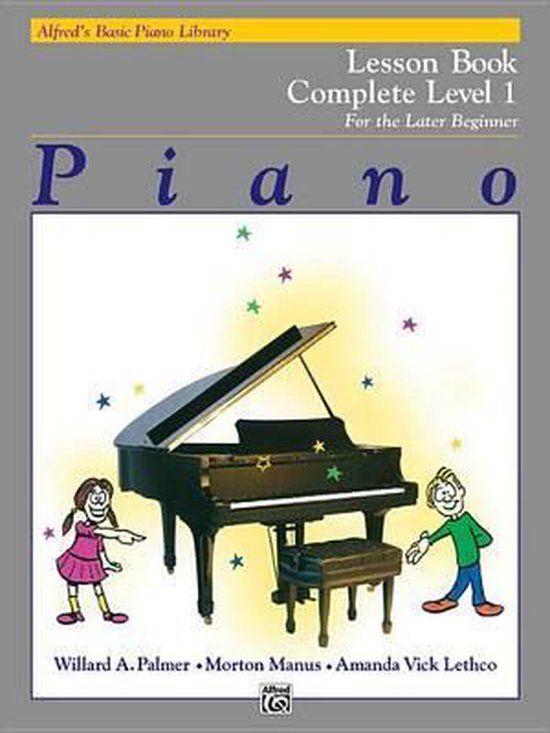 Boek cover AlfredS Basic Piano Library Lesson 1 Complete van Willard A Palmer (Hardcover)