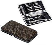 Luxe 12-delige Manicureset & Pedicureset - met Lederen etui