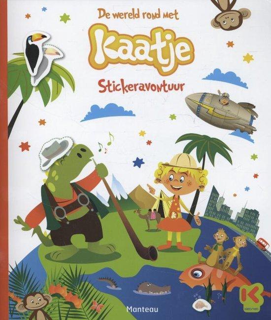 Cover van het boek 'De wereld rond met Kaatje stickerboek'