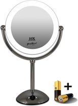 Gérard Brinard verlichte spiegel LED make-up spiegel incl. batterij & USB kabel - 10 vergroting - Ø22cm