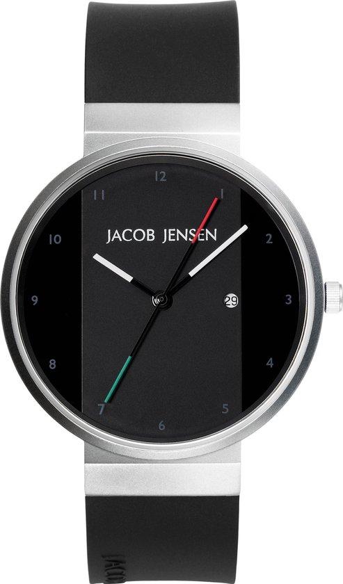 Jacob Jensen 702 horloge heren zwart edelstaal