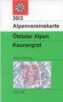 DAV Alpenvereinskarte 30/3 Ötztaler Alpen Kaunergrat 1 : 25 000