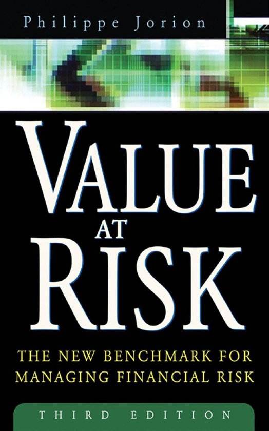 Boek cover Value at Risk, 3rd Ed. : The New Benchmark for Managing Financial Risk: The New Benchmark for Managing Financial Risk van Philippe Jorion